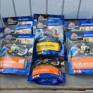 Mountain House Lot x 9 Freeze Dried Food. New!